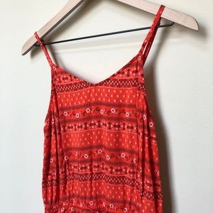 Old Navy Pants - Old Navy Red Bandana Print Romper Size Small